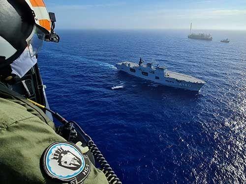 Marinha realiza ação de presença na Bacia de Campos