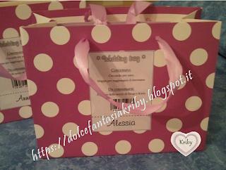 wedding bags personalizzate con contenuto personalizzato