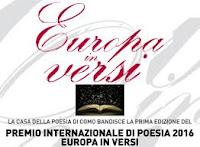 """Festival """"Europa in Versi"""": prima edizione del Premio Internazionale di Poesia 2016"""