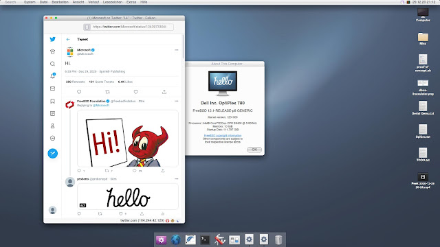 Hello System desktop