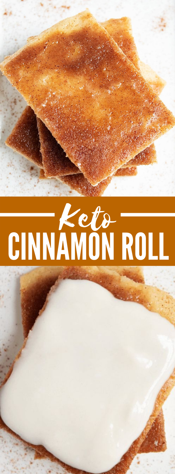 Keto Cinnamon Roll Flatbread {with Easy Icing Recipe} #healthy #ketodiet