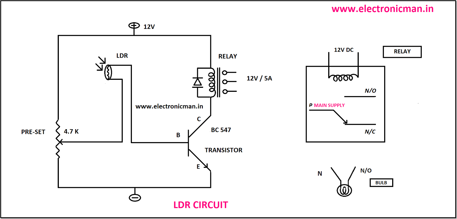 Ldr Circuit 72704 Loadtve Image Working Of An In A