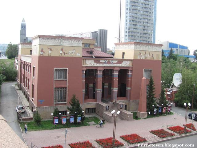 Красноярский краеведческий музей - Откуда египетский стиль в Сибири?
