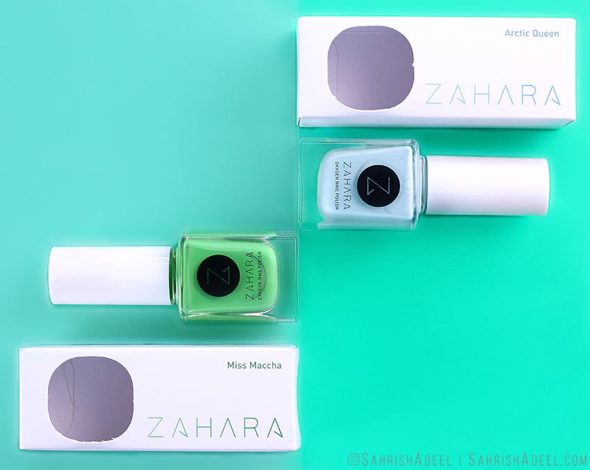 Halal, Breathable & Wudhu Friendly - Oxygen Nail Polish by Zahara Cosmetics - Swatches & Discount Code
