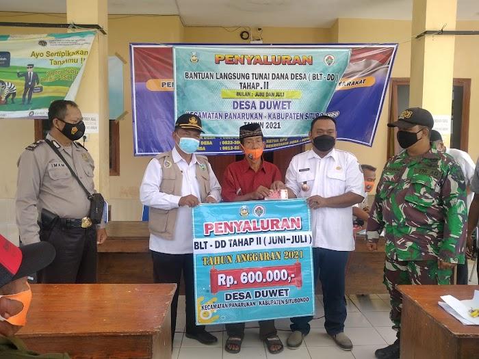 Pemerintah Desa Duwet Kecamatan Panarukan, Salurkan BLT DD Bertempat di Balai Desa Duwet