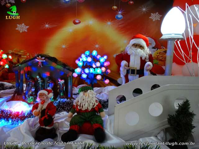 Mesa decorativa de Natal - Aniversário