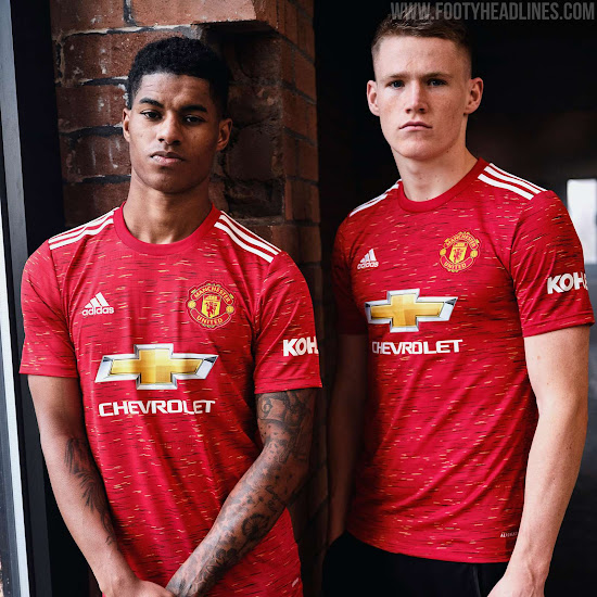 manchester united 20 21 home kit released debut tomorrow footy headlines manchester united 20 21 home kit