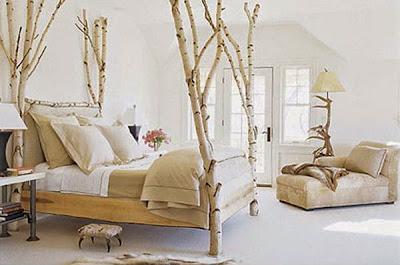 decoracion con ramas de arboles