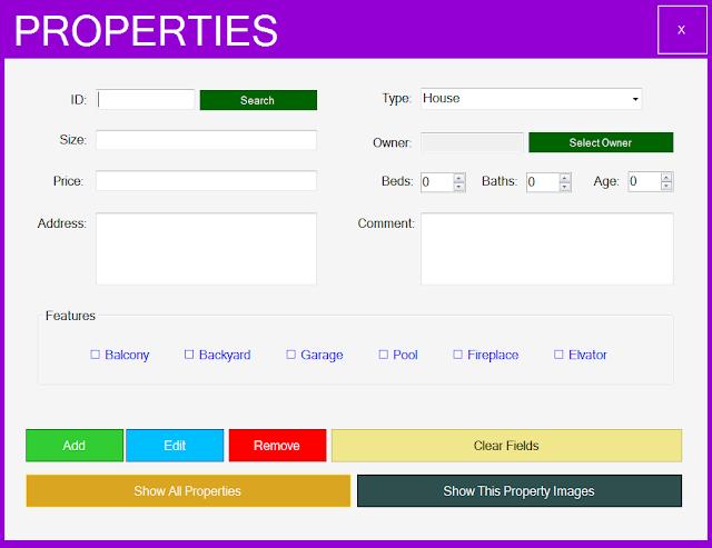 properties form