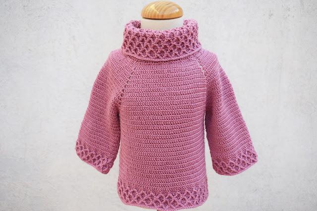 4 - Crochet Imagen jarsey de cuello alto a juego con falda a crochet y ganchillo por Majovel Crochet paso a paso