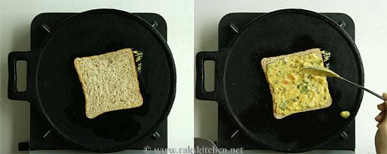 Besan bread toast step 4
