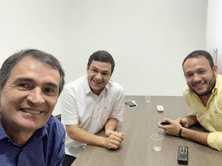 Romero Rodrigues recebe vice-prefeito e vereador de Picuí, já articulando alianças na região do Curimataú e Seridó