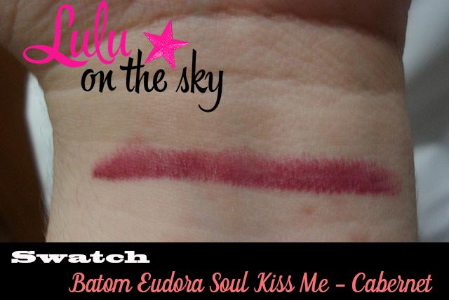 Resenha: Batom Eudora Soul Kiss Me - Cabernet - blog luluonthesky