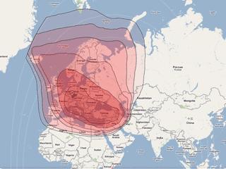 Türksat yayın kapsama haritası