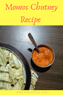 Momos are steamed dumplings made from wheat or all purpose flour stuffed with pork, chicken or vegetable. Momos chutney is a red hot chutney made with ripe tomatoes, dry red chilies and garlic is a must dip to serve with momos.