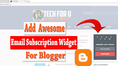 Add Email Subscription Widget For Blogger