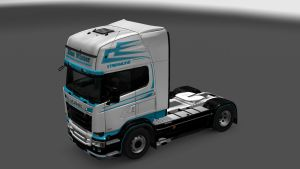 Scania RJL Blue Winter skin