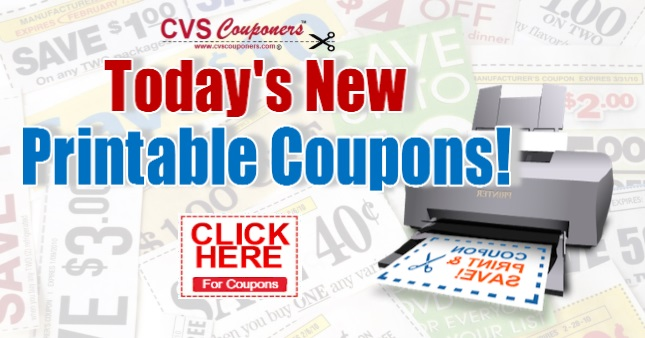 Today S New Printable Coupon List Cvs Couponers