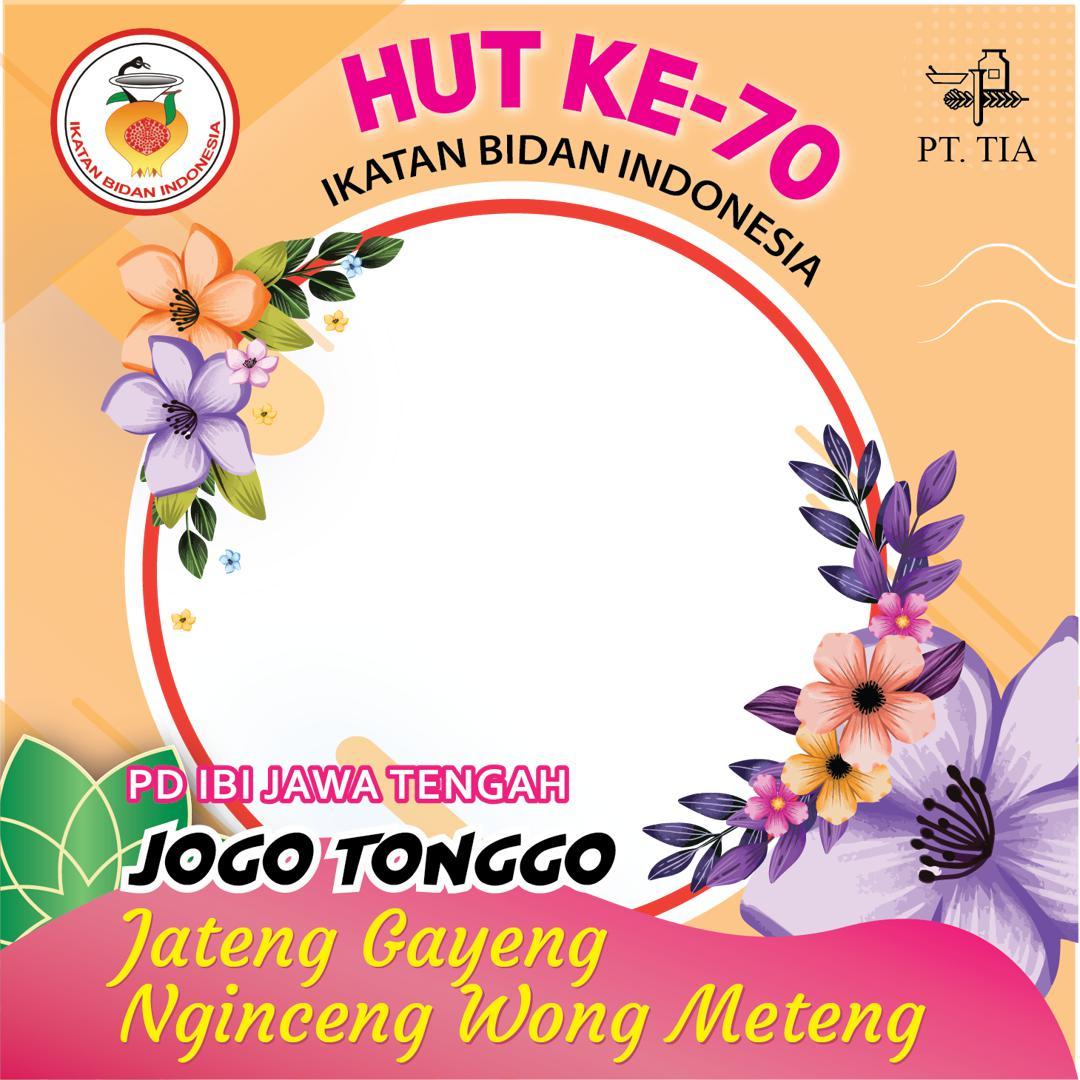 Frame Bingkai Background Twibbon HUT ke-70 IBI Jateng 2021