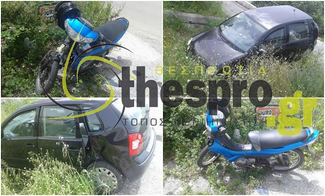 Ηγουμενίτσα: Σοβαρός τραυματισμός μοτοσικλετιστή μετά από σύγκρουση με ΙΧ