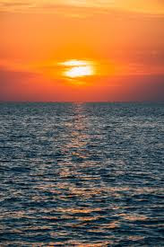 Sunset view over the ocean.
