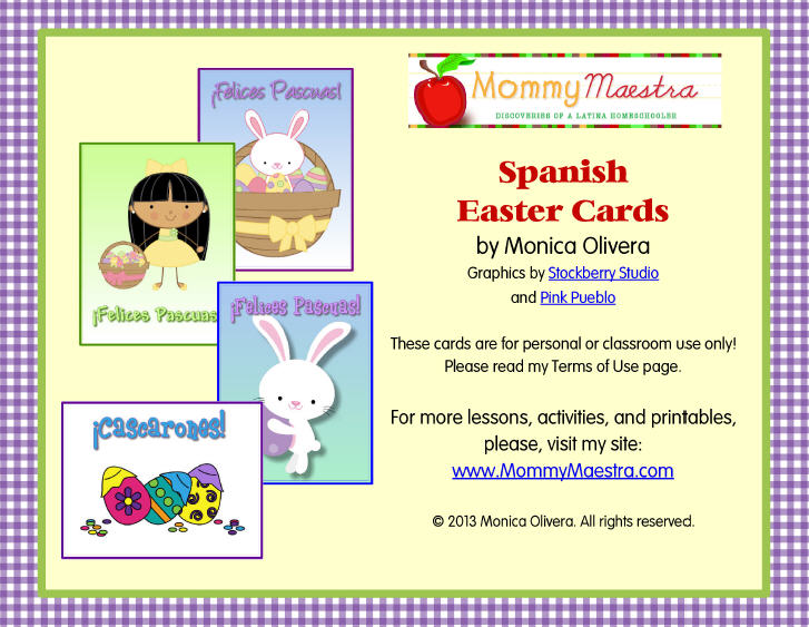 mommy maestra free spanish easter themed note cards printable. Black Bedroom Furniture Sets. Home Design Ideas