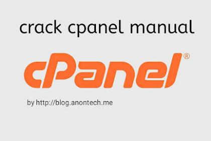Crack CPanel Manual - Anontech