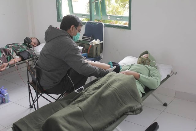 Peringati HUT Kavaleri TNI AD, Yonkav 12/BC Gelar Donor Darah