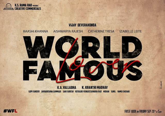 Vijay Devarakonda New Movie Titled as   #World Famous Lover (#WFL)