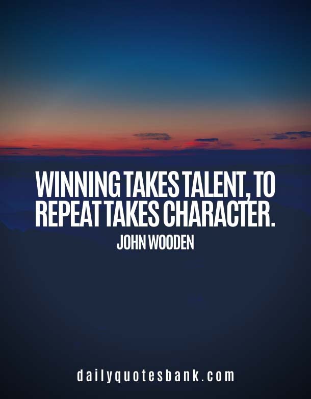John Wooden Quotes On Character