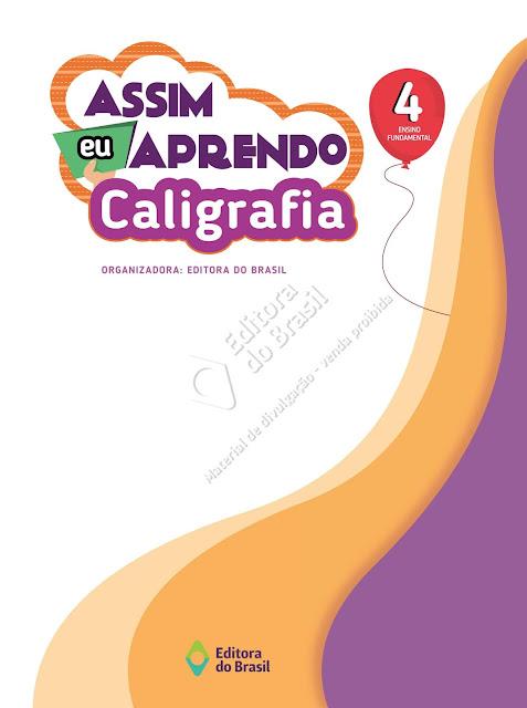 Livro Assim Eu Aprendo Caligrafia 4 Ano