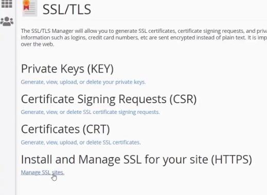 manage all ssl sites