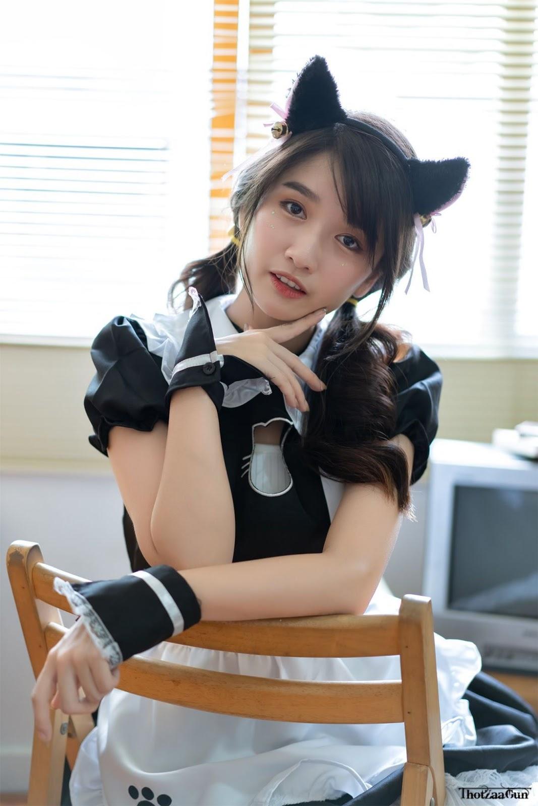 Thailand model: Yatawee Limsiripothong - The cute black cat - TruePic.net
