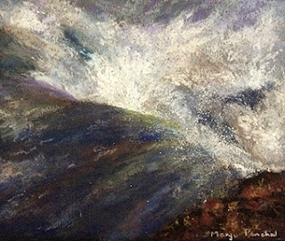 soft pastel painting of Gullfoss waterfall ( Iceland ) by Manju Panchal