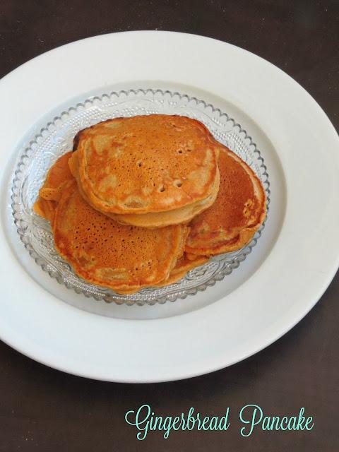 Eggless Gingerbread pancake