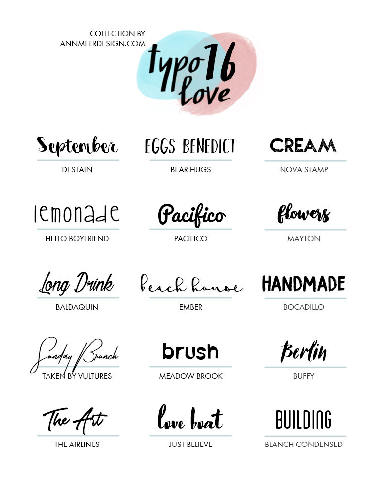 Free Fonts 16 Annmeer Bloglovin