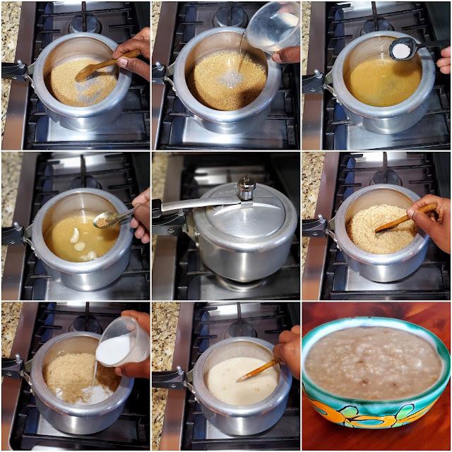 images of Thinai Thengai Paal Kanji / Millets Coconut Milk Porridge / Millets Recipes