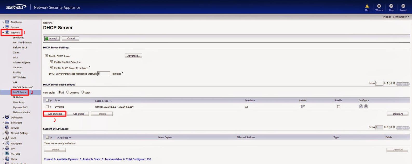 DHCP Servern add dynamic.