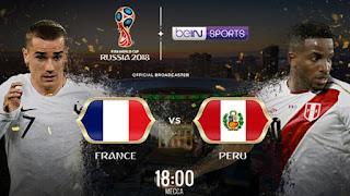 مشاهدة مباراة فرنسا و بيرو في كأس العالم 2018 بتاريخ 21-06-2018