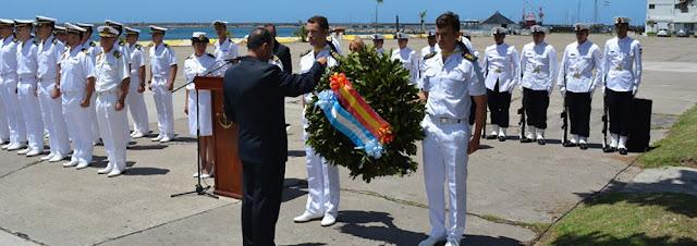 El homenaje de la Armada Española a los caídos del submarino argentino ARA San Juan