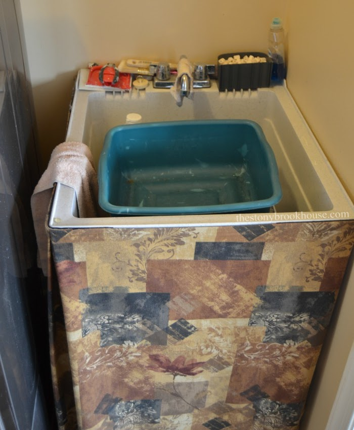 Laundry tub before