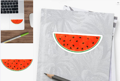 Watermelon Watercolor Sticker