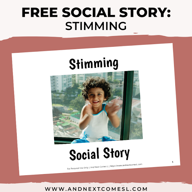 Free printable social story for kids with autism about stimming