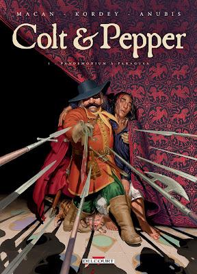 """couverture de """"Colt & Pepper T1 Pandemonium à Paragusa"""" de Kordey et Macan chez Delcourt"""