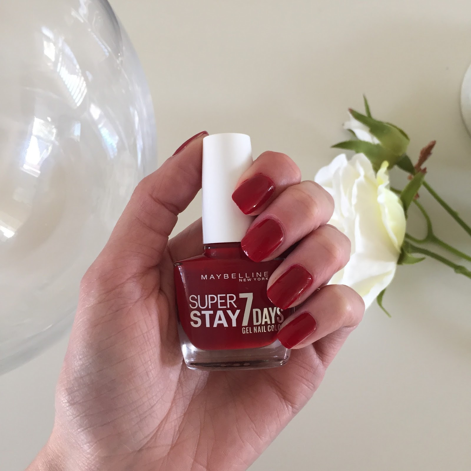 September Favourites 9 - Maybelline Super Stay Nail Polish in Deep Red