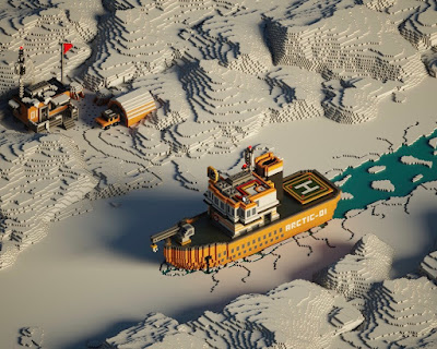 Voxel Boat in the Arctic