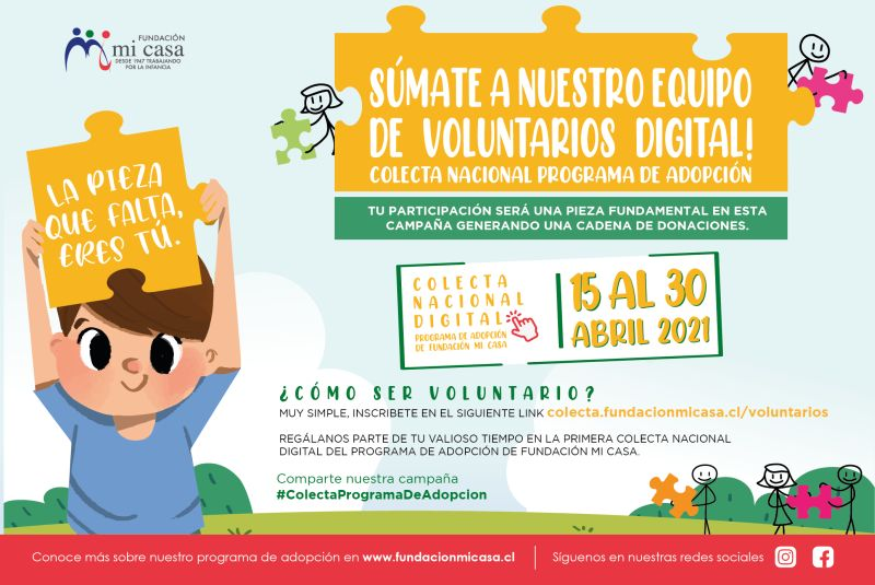 Colecta Nacional Digital del Programa de Adopción