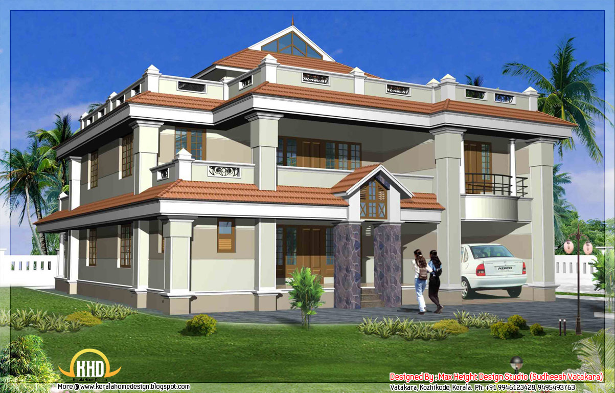 Beautiful Front Elevation Of Kerala Houses : Beautiful kerala style house elevations home