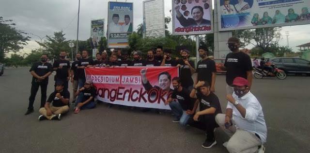 Tolak Tuntutan Mundur, Presidium Jambi #BangErickOke Dukung Erick Thohir Bangun BUMN