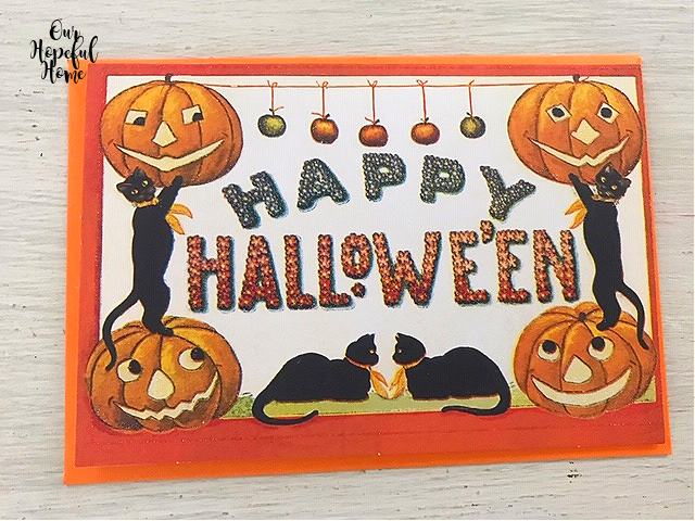 jack-o-lanterns Happy Halloween black cats card